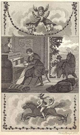 Hastiger Briefschreiber und Postillon, Neuer gemeinnützlicher Briefsteller für das bürgerliche Geschäftsleben, Berlin 1825