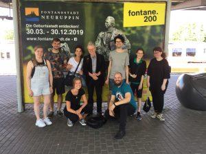 Fontane-Blog vor Fontane-Plakat